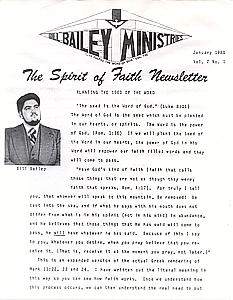 The Spirit of Faith Newsletter - January 1980 (Print Edition)
