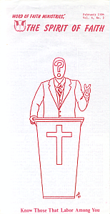 The Spirit of Faith Newsletter - February 1984 (Print Edition)