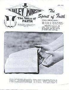 The Spirit of Faith Newsletter - June 1981 (Print Edition)