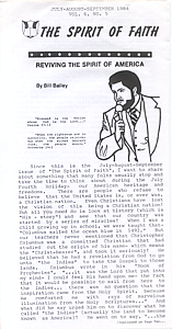 The Spirit of Faith Newsletter - July 1984 (Print Edition)