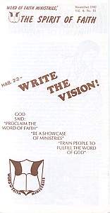 The Spirit of Faith Newsletter - November 1982 (Print Edition)