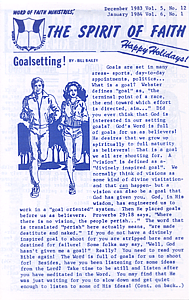 The Spirit of Faith Newsletter - December 1983 / January 1984 (Print Edition)