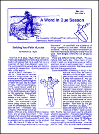 A Word in Due Season Newsletter (May 1990)