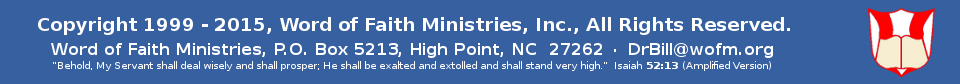 Word of Faith Ministries, Inc. Web Site